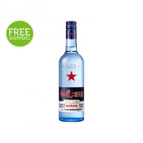 Red Star Erguotou Baijiu 43% 750mL